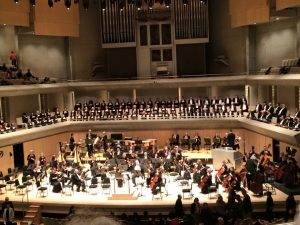 Choir and TSO onstage for Ralph Vaughan Williams Sea Symphony, October 2015